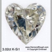 Heart Shaped Polished Diamonds