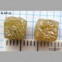 Cube Diamond Crystal Pairs