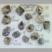 Canadian Diamonds – Octahedral Crystals – 3.40 – 9.32 ct. (R2a-08)